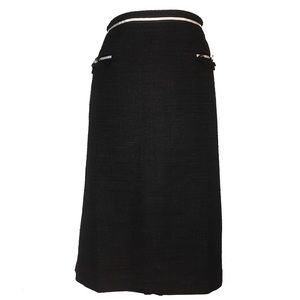 Talbots Woman Preppy Black Straight Skirt EUC